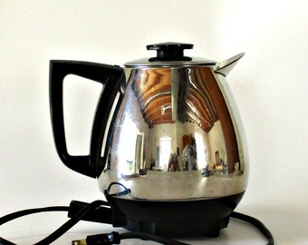 Vintage JET O MATIC Permanent Electric Coffee Percolator Mid Century Modern Retro