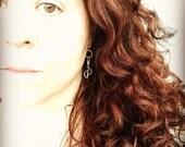 Mermaid Earrings - Sterling Silver Earrings - Hammered Silver Jewelry - Rustic Silver Earrings - Petal Earrings - Gifts For Her