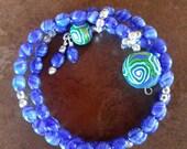 Denim Blue Row Counter Bracelet for Knitting or Crochet Count to 100