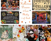 Autmn Dreams - 8 Assorted Halloween Postcard Medley