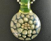 Boro Glass Pendant Bead Fume Gold Implossion Silver Illuminati --Dan Rushin
