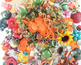 20% OFF - Craft Jewelry - Over 1 Pound of Jewelry - Fall Harvest