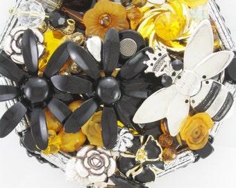 HALF OFF SALE! - Hand Mirror - Queen Bee - Repurposed Jewelry - M001062