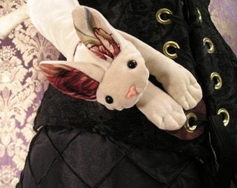 Prototype White Velvet Cat Pouch!  Reduced Price for Additional Character