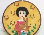 Embroidered Art Hoop - Flora and Fauna