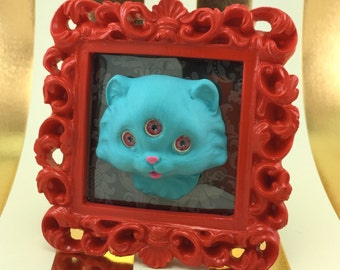 3 Eyed Kitty in Ornate Frame SiDeShOw CHOOSE your KItty