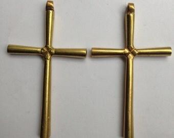 Ethiopian brass Coptic Cross, Ethiopian Coptic Cross, brass cross, brass pendant, African pendant