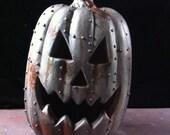 Steampunkin Steampunk  Rusted Metal Pumpkin Halloween  Pumpkin Sculpture 2
