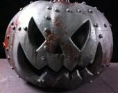 Steampunkin Steampunk  Rusted Metal Pumpkin Halloween  Pumpkin Sculpture 4