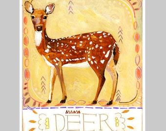 Animal Totem Print - Deer