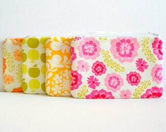 Coin Purse, Small Zipper Pouch, Women and Teens, Choice of Colors, Sandi Henderson Farmer's Market