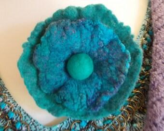Felt Flower Brooch Pin