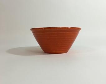 Orange Ringware Bowl ~ Burnt Orange Bowl ~ Mid-Century Bowl ~ Ringware ~ Bauer ~ Orange Mixing Bowl ~ Baking Bowl