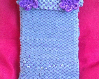 Hand woven Cordoba Book Bag (protective sleeve) - recycled tshirt yarn
