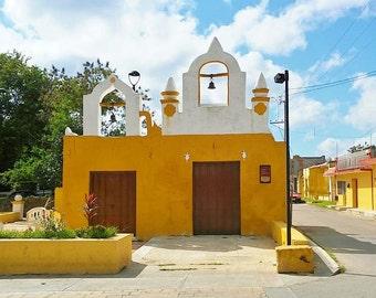 Little Yellow Church in a Little Yellow Town. Iglesia Amarilla Izamal Mexico