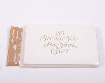 Thank You For Your Gift MIP 1970s Thank You Cards in Gold - Awesome Typography 10 Count ~ The Pink Room ~ 170106