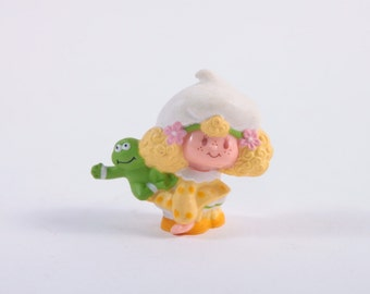 Vintage Strawberry Shortcake - Lemon Merengue Leap Frog - 1980s PVC - Rare