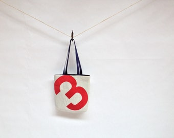 Recycled Sail Red Number 3 Tote