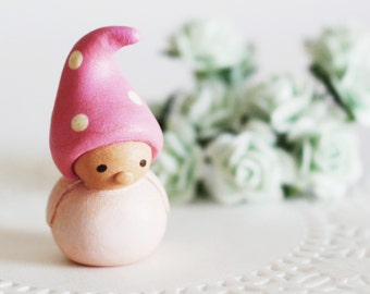 Wee Companion Gnome- a miniature clay sculpture by humbleBea