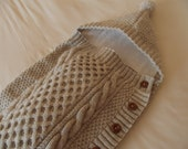 BABY COCOON/SLEEPSUIT/Cosy Baby Cocoon-Baby Snuggle Sack-Grey/Gray Baby All in One-Baby Sleepsuit-Ready to Ship