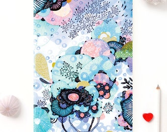 Notebook, Journal, Sketchbook, Planner - Floral Pattern