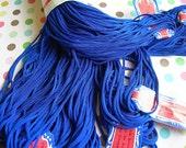 Japanese Embroidery Floss BLUE Bunka 49 Royal Medium Blue Yarn Rayon Thread Japan Full Hank of 10 Skeins 60 yards Looped New