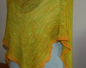 Handknit Golden Maple Shawl