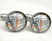 St Paul Map Cufflinks - St. Paul, Minnesota Cuff Link Set - You pick your map - Great Groomsmen Gift for wedding party - Custom Map Gifts