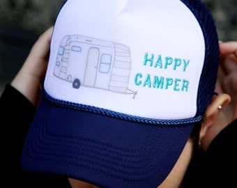 Happy Camper Airstream Trailer Trucker Hat
