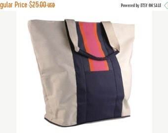 ON SALE Monogrammed Large Preppy Stripe Yacht Tote
