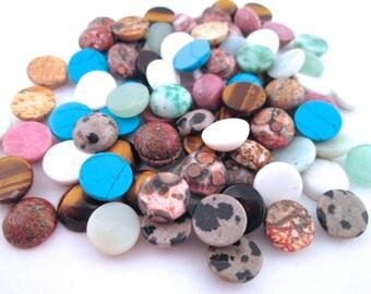 2 10mm Assorted Gemstone Cabochons