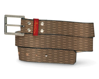 Durp Leather Belt, Pattern Belt, Leather Belt Crazy Funny Humor