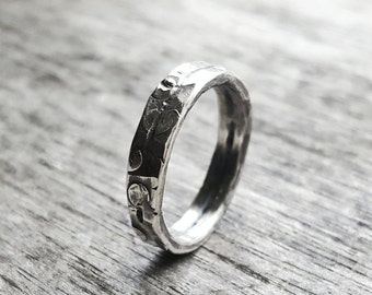 Simple Wedding Band, Sterling Silver Ring, Simple Wedding Ring, Commitment Ring Set, Band, Rustic Wedding Band, Mens band, Womens Band