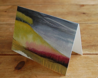 Stormy hill landscape - greeting card