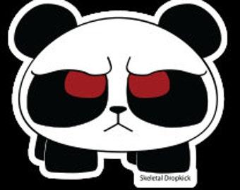 Miffed Panda Sticker