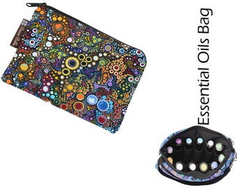 Essential Oil Bag - Essential Oil Pouch - Oil Bags - Waterproof lining fabric - Happy Fabric