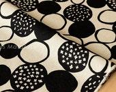 Japanese Fabric - big pebbles canvas - black - 50cm
