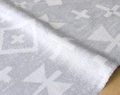 Japanese Fabric Kokka Tsumiki Pattern - basket weave - metallic - B - 50cm