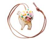 Alpaca Necklace with Pom-Pom Free Shipping