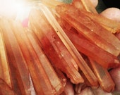 Unabashedly Spirited Pink/Red Lemurian Seed Crystal Wands - - Lemurian Crystals, Red Lemurian, Pink Lemurian, Crystals & Stones For Healing