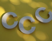 VINTAGE plastic letter C for wall hanging / DECOR