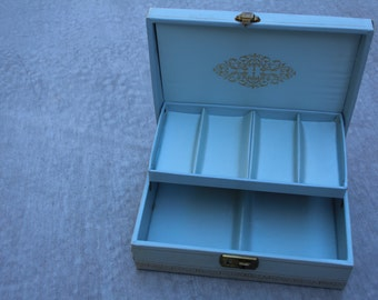 VINTAGE jewelry box with music box COMBO
