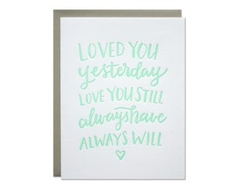 Love Always Letterpress Card