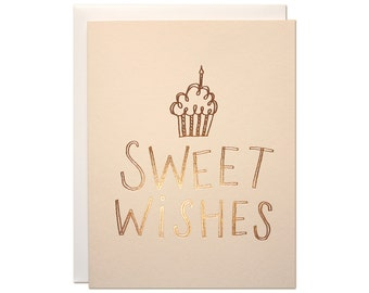 Sweet Wishes Foil Card