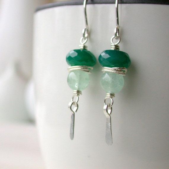 Black Friday Sale! Forrest Nymph Earrings. Drop Earrings.  Earrings. Green Earrings. Dangle. Artisan. Jewelry.