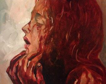 A cascade of blood and fluids...