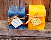Mixed Set of Square Pillar Candles - Lemon Verbena and Fruitified Estate Scented