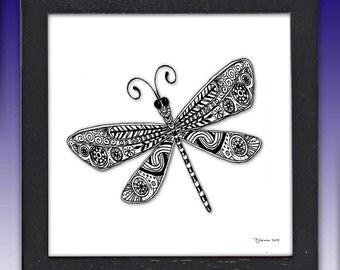 Framed Dragonfly Print