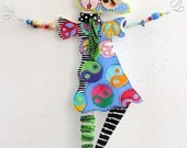 "The WALL DANCERS Are Back     ""Artsy Fartsy Babe"" Free Shipping"