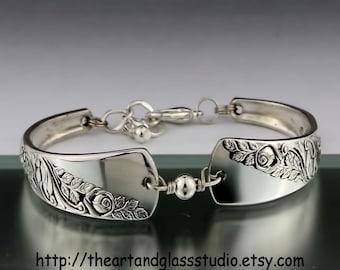 Silver Spoon Bracelet BRIDAL CORSAGE Jewelry Vintage, Silverware, Gift, Anniversary, Wedding, Birthday
